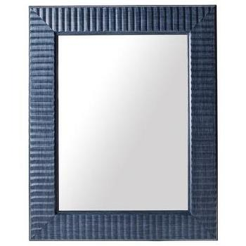 Mirrors - Threshold Wave Mirror - Navy 16x20 I Target - navy blue framed mirror, navy framed mirror, navy rippled frame mirror,