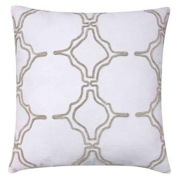 Pillows - Threshold Lattice Toss Pillow I Target - lattice print pillow, modern lattice print pillow, lattice pillow, white lattice pillow,