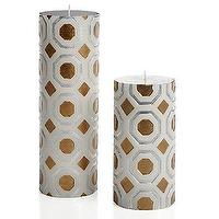 Decor/Accessories - Perspective Candle - Silver/Gold | Z Gallerie - gold and silver candles, modern gold and silver candles, geometric patterned candles,