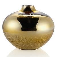 "Decor/Accessories - Echo Vase 10"" - Gold I Z Gallerie - gold vase, mirrored glass vase, shiny gold vase, modern gold vase,"