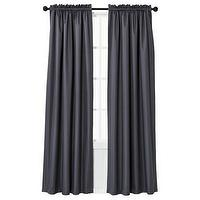 Window Treatments - Eclipse Braxton Thermaback Window Panel I Target - dark gray window panels, dark gray draperies, dark gray curtains,