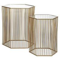 Tables - Stixx End Tables - Set of 2 | Z Gallerie - geometric gold end tables, modern gold end tables, contemporary gold end tables,