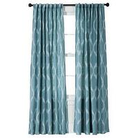 Window Treatments - Threshold Jacquard Ikat Window Panel I Target - blue ikat window panels, blue ikat jacquard window panels, blue ikat curtains, blue ikat draperies,