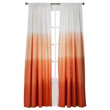 Window Treatments - Threshold Ombre Stripe Window Panel I Target - orange ombre curtains, orange ombre drapes, orange ombre window panels, ombre drapes, ombre curtains,