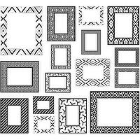 Art/Wall Decor - WallPops by Jonathan Adler Photo Frames Kit I Target - black and white frames, modern black and white frames, black and white frame collection, black and white frame collage,