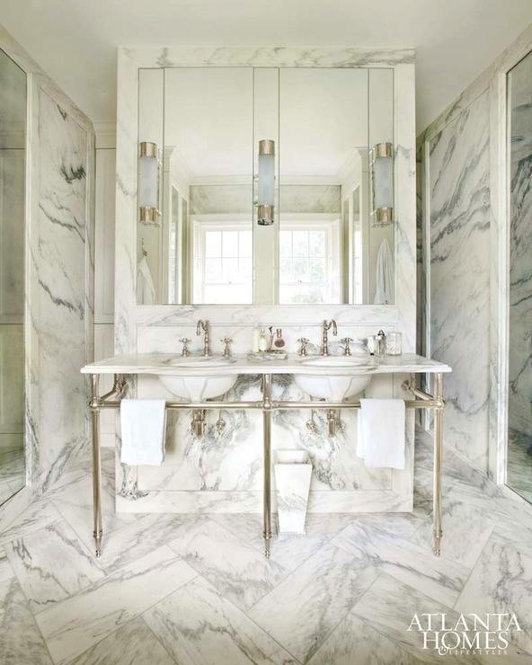 Marble Flooring Essex: Marble Master Bathroom