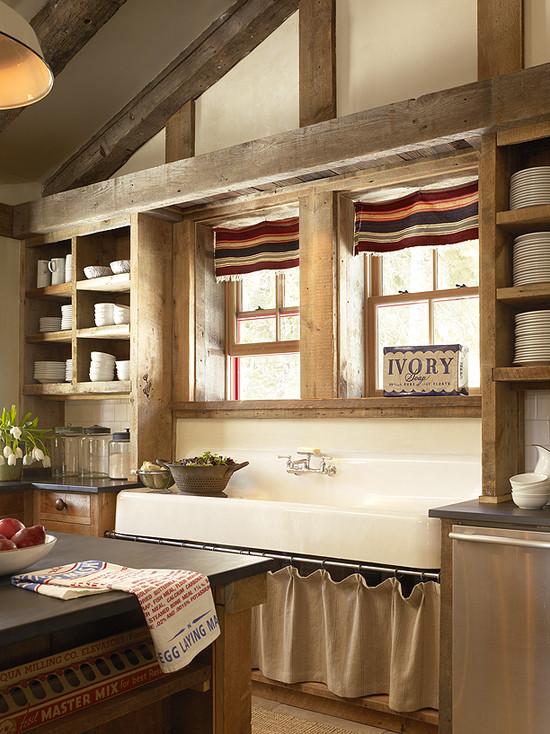 Barn Style Kitchen Sinks : kitchen, reclaimed kitchen cabinets, reclaimed barn wood kitchen ...