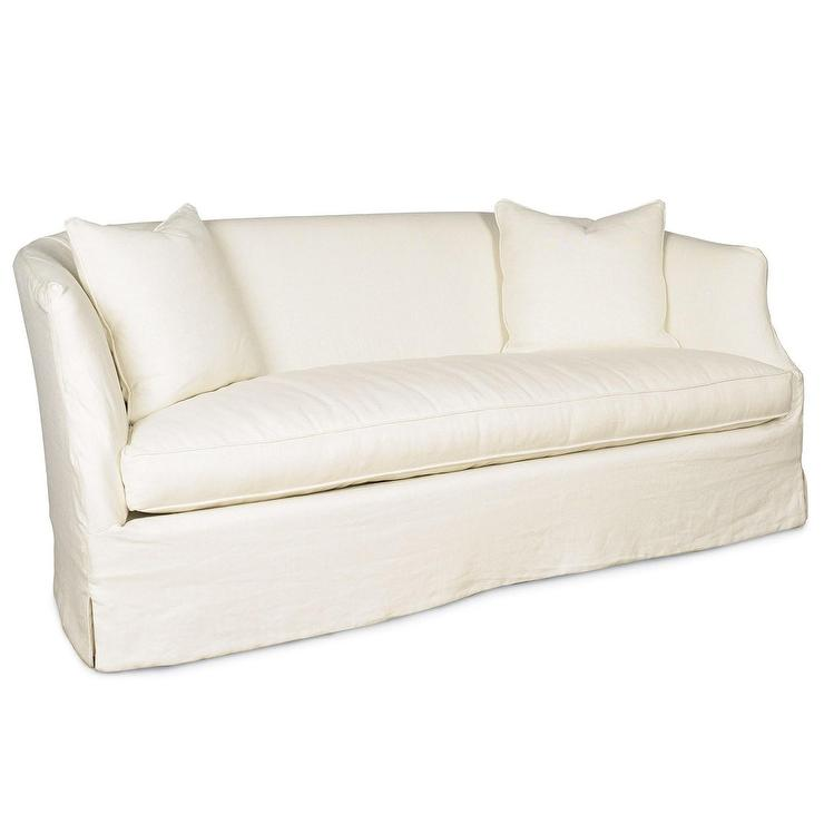 Seating - Bellevue Slipcovered Apartment Sofa I zinc door - white linen slipcovered sofa, white linen slipcovered apartment sofa, white apartment sofa, white linen sofa,
