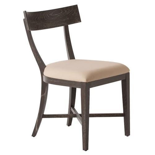 Arteriors Caden Gray Limed Oak Veneer Linen Chair I Zinc Door