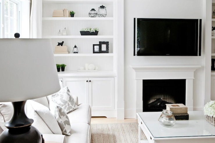 Living Room Built Ins Transitional Lux Decor