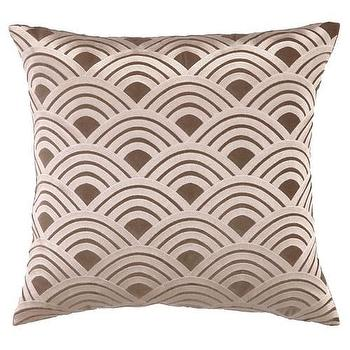 DL Rhein Fans Brown Embroidered Velvet Square Pillow I zinc door