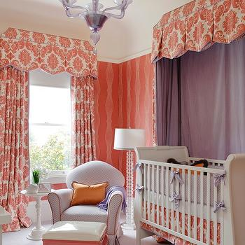 Orange Nursery Design, Traditional, nursery, Kendall Wilkinson Design