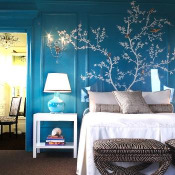 Turquoise Bedroom, Eclectic, bedroom, Kendall Wilkinson Design