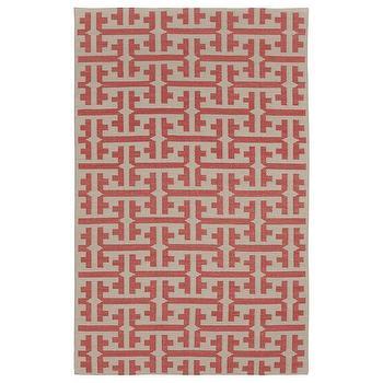 Rugs - Capel Rugs Grecian Apricot Wool Rug I zinc door - apricot and beige grecian rug, apricot and beige geometric rug, geometric flatweave rug,