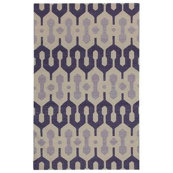 Rugs - Capel Rugs Spain Amethyst Violet Wool Rug I zinc door - purple and beige geometric rug, purple geometric rug,