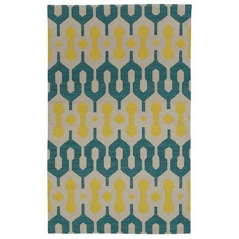 Rugs - Capel Rugs Spain Blue Green Yellow Wool Rug I zinc door - blue green and yellow rug, blue green and yellow modern rug, blue green and yellow geometric rug,