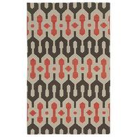 Rugs - Capel Rugs Spain Smoke Apricot Wool Rug I zinc door - brown beige and apricot geometric rug, brown beige and apricot modern rug, modern geometric rug,