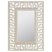 Mirrors - Worlds Away Greek Key Cream Capiz Shell Mirror I zinc door - greek key mirror, capiz shell mirror, greek key capiz shell mirror, capiz mirror,