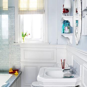 Decorative Wall Moldings, Contemporary, bathroom, BHG