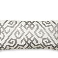 Pillows - Ikat Geometric Pillow Cover | Williams-Sonoma - silver and white geometric pillow, silver and white geometric ikat pillow, silver and white modern pillow,