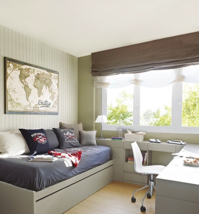 Modern Boys Daybed Transitional Room