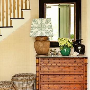 Faux Bamboo Chest, Cottage, entrance/foyer, Thornton Designs