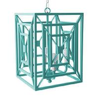 Lighting - Jay Chandelier I Stray Dog Designs - turquoise chandelier, turquoise pendant, modern turquoise pendant,