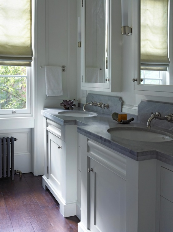 White Double Vanity ideas - Traditional - kitchen - Kathryn Scott ...