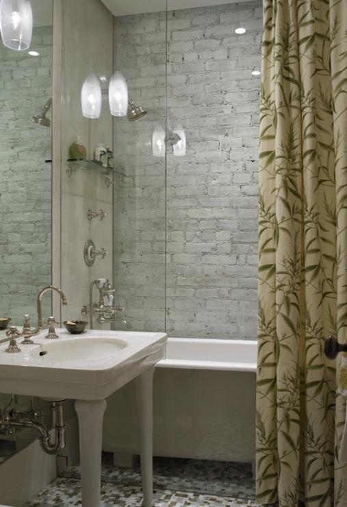 Parisian Pedestal Sink Transitional Bathroom Kathryn