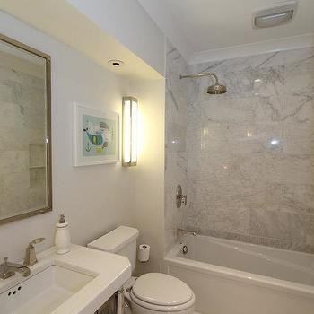 Marble Shower Surround, Transitional, bathroom, Design Build 4U Chicago
