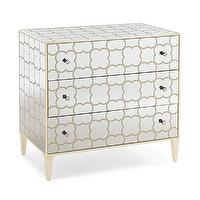 Storage Furniture - Cookies and Cream Chest I Tonic Home - mirrored chest, mirrored chest with overlaid pattern, mirrored nightstand,
