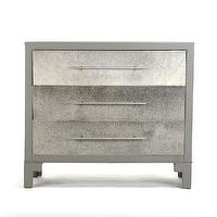Storage Furniture - Zac Cowhide Chest of Drawers I Tonic Home - cowhide chest, gray cowhide chest, cowhide chest of drawers, cowhide and leather chest of drawers,