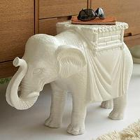 Tables - Elephant Side Table I Tonic Home - elephant side table, elephant accent table, ceramic elephant side table,