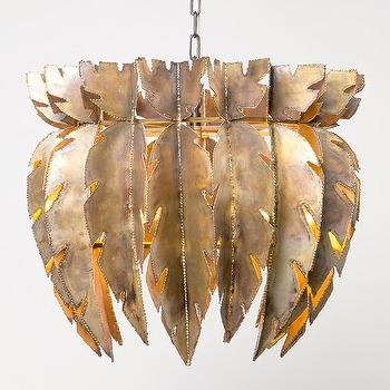 Lighting - Made Goods Harper Chandelier | Shop Candelabra - brass chandelier, modern brass chandelier, leaf shaped brass chandelier,