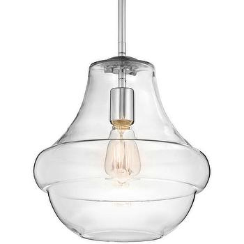 Lighting - Restoration Warehouse Everly Pendant | Shop Candelabra - glass pendant, glass and chrome pendant, hanging glass pendant,