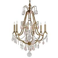 Lighting - Currey And Company Fairytale Chandelier | Shop Candelabra - fairytale chandelier, pink and gold chandelier, gold chandelier with pink crystals,