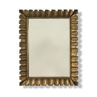 Lighting - Mr Brown Lucile Mirror | Shop Candelabra - scalloped gold framed mirror, scalloped edge mirror, gold framed rectangular mirror,
