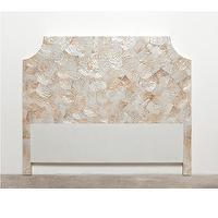 Beds/Headboards - Made Goods Gavin Headboard | Shop Candelabra - shell headboard, seashell headboard,