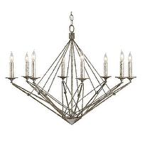 Lighting - Currey And Company Verrazano Chandelier | Shop Candelabra - modern geometric chandelier, modern chandelier, modern angular chandelier,