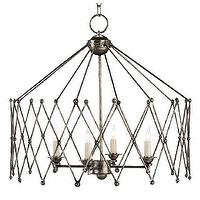 Lighting - Currey And Company Accordion Chandelier | Shop Candelabra - accordion chandelier, accordion shaped chandelier,