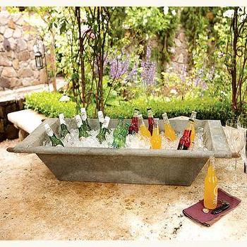 Decor/Accessories - Zinc Troughs I Clayton Gray Home - zinc trough, trough, vintage style trough,