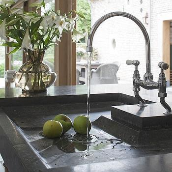 Soapstone Sink, Traditional, kitchen, Achterhuis
