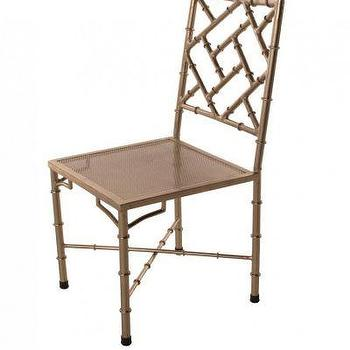 Nickel Bamboo Side Chair I Clayton Gray Home