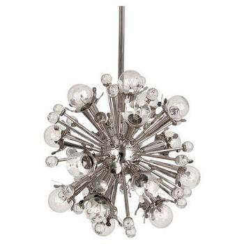Lighting - Sputnik Pendant Nickel Jonathan Adler I Clayton Gray Home - sputnik pendant, polished nickel sputnik pendant, modern sputnik pendant,