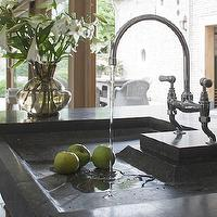 Achterhuis - kitchens - soapstone sink, soapstone island, soapstone kitchen island, soapstone kitchen sink, bridge faucet, bridge kitchen faucet,