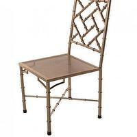 Seating - Nickel Bamboo Side Chair I Clayton Gray Home - nickel bamboo side chair, bamboo side chair, faux bamboo chair,