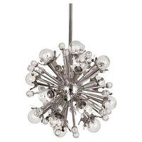 Lighting - Sputnik Pendant Nickel Jonathan Adler I Clayton Gray Home - sputnik pendant, polished nickel sputnik pendant, modern sputnik pendant,