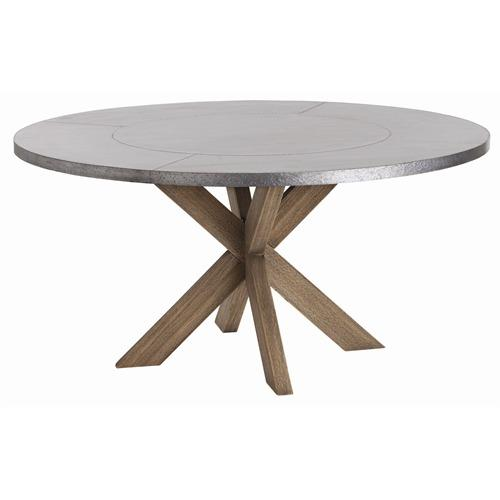 Metal Top Dining Table : Dining Table: Galvanized Metal Top Dining Table
