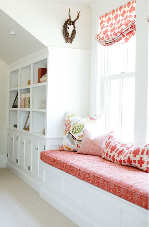 Built in reading nook traditional bedroom caitlin Window seat reading nook