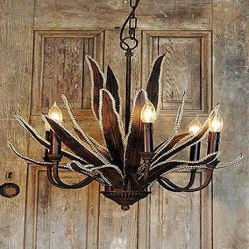 Lighting - Lily Chandelier I Tonic Home - iron chandelier, iron and glass chandelier, iron lily chandelier,